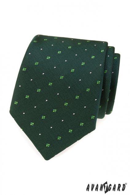 Zelená kravata se vzorkem 559 - 1621