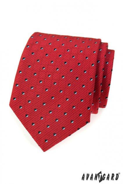 Červená kravata s jemným vzorkem 559 - 315