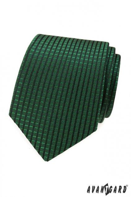 Zelená vroubkovaná kravata 559 - 377