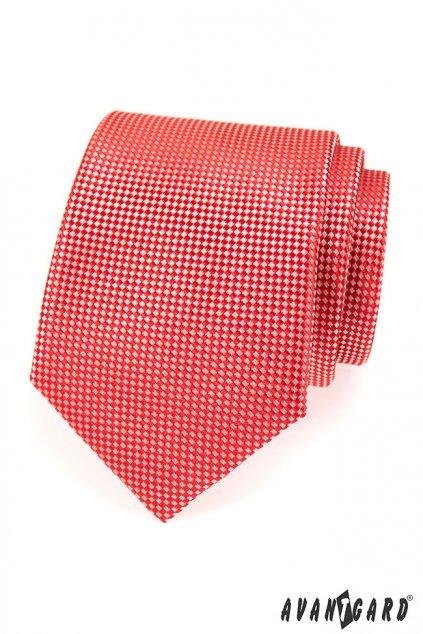 Červená kravata s bílým vzorem 559 - 476