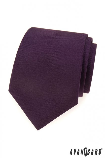 Tmavě fialová matná kravata 559 - 7038