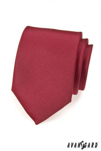 Bordó kravata matná 559 - 7054