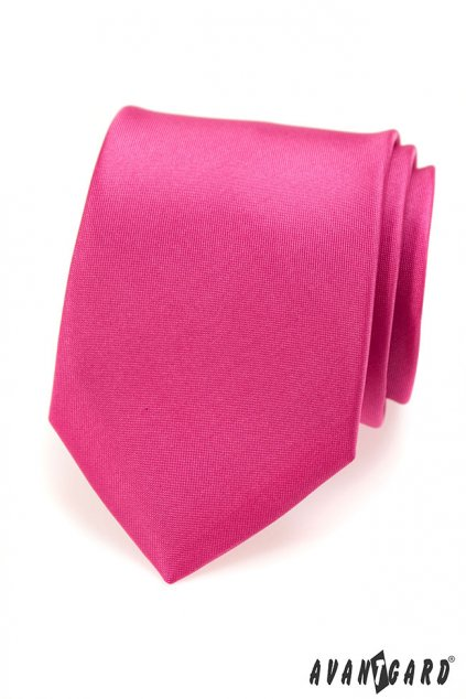Tmavě růžová kravata matná 559 - 7056
