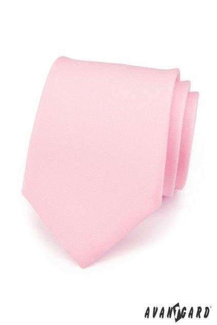 Růžová matná kravata 559 - 7609