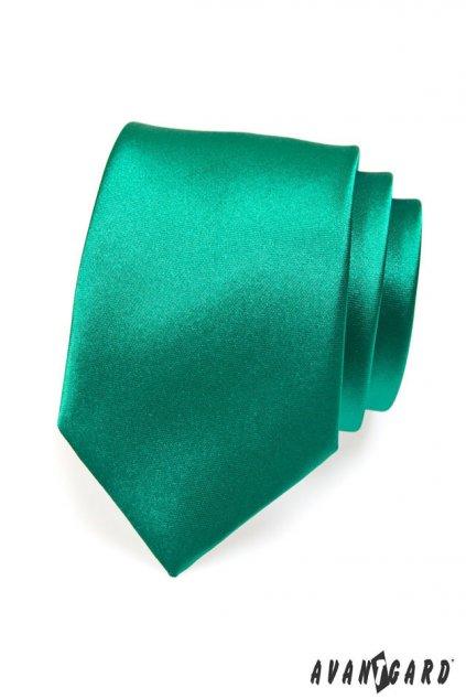 Temně zelená kravata lesklá 559 - 787