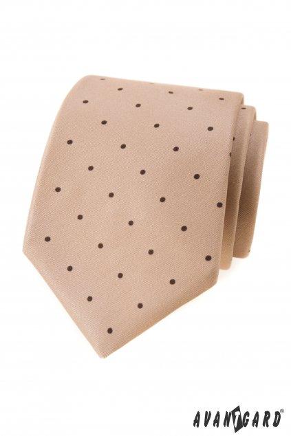Béžová luxusní pánská kravata 561 - 1986