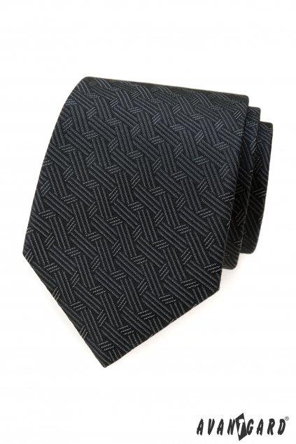Šedá luxusní kravata se vzorkem 561 - 62401