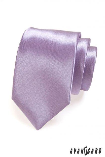 Lila luxusní kravata lesklá 561 - 9016