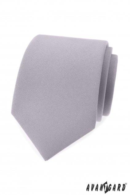 Světle šedá luxusní kravata 561 - 9849