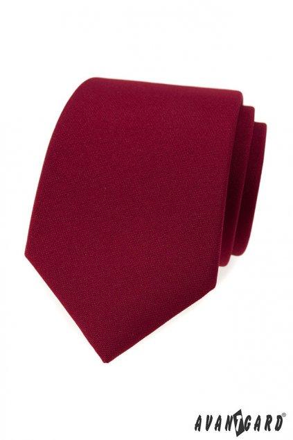Pánská luxusní kravata bordó 561 - 9853
