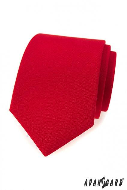 Červená luxusní kravata hladká 561 - 9857