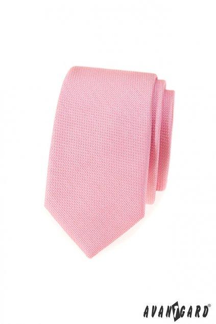 Kravata SLIM LUX růžová 571 - 81281
