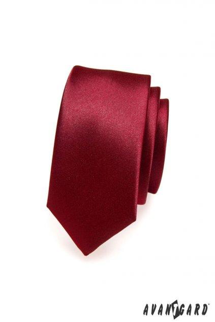 Pánská luxusní kravata SLIM bordó 571 - 9022