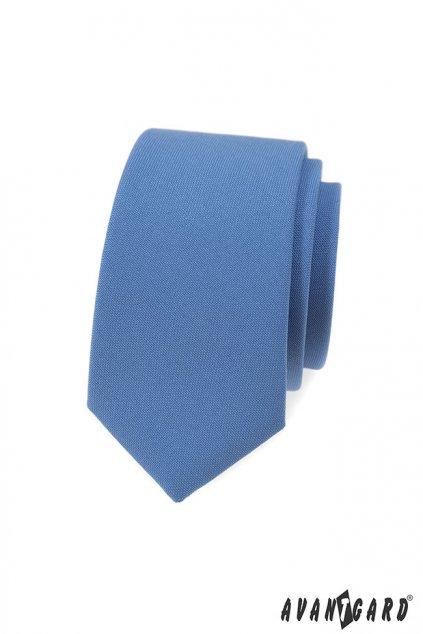 Kravata SLIM LUX modrá 571 - 9851