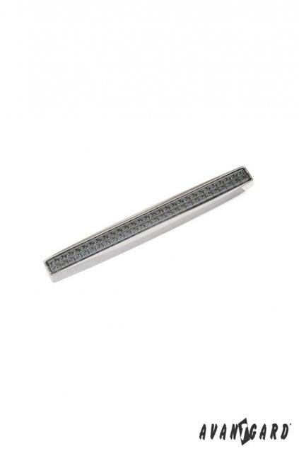 Spona na kravatu SLIM stříbrná 572 - 20111