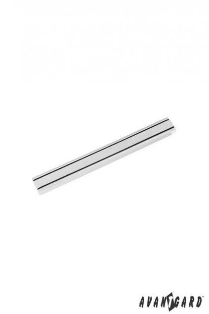 Spona na kravatu SLIM stříbrná 572 - 20115