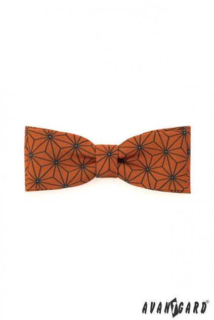 Pánský motýlek oranžový ornament 576 - 1933