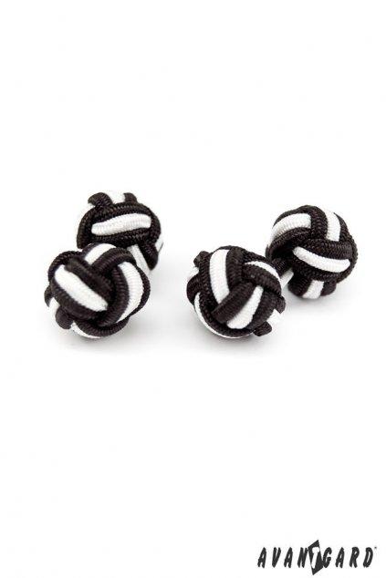 Knots - manžetové uzlíky černá 614 - 2301