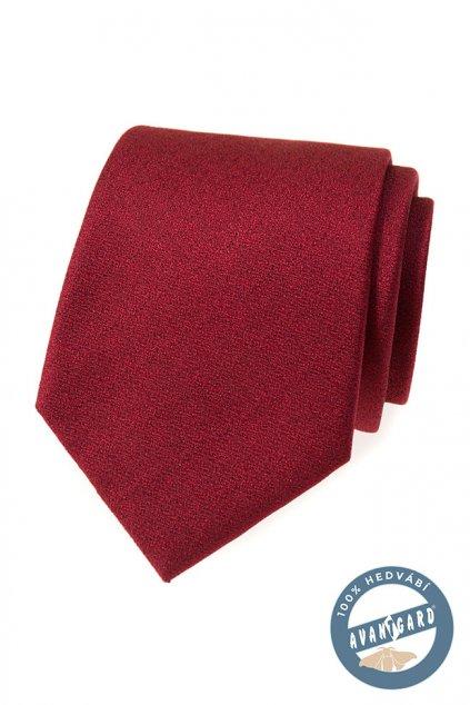 Kravata hedvábná v dárkové krabičce bordó 621 - 7751