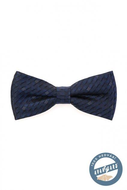 Motýlek PREMIUM hedvábný s kapesníčkem modrá 624 - 7706