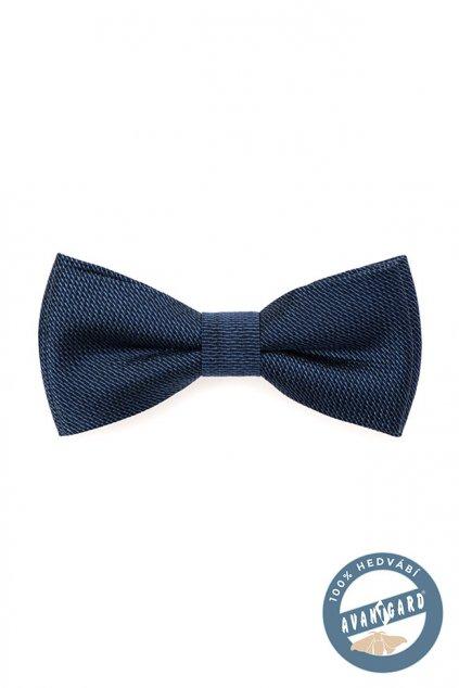 Motýlek PREMIUM hedvábný s kapesníčkem modrá 624 - 7710