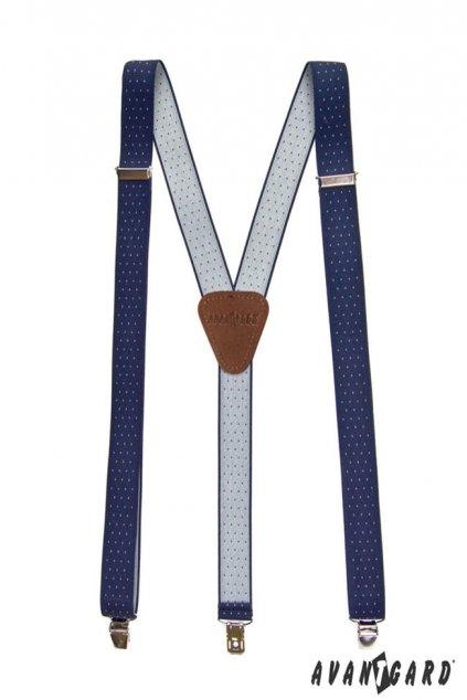 Modré šle Y s puntíkem na klipy 867 - 310163