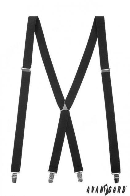 Černé šle X s kovovým středem 868 - 2300