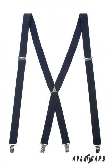 Modré šle tvar X zapínání na klipy 868 - 3100
