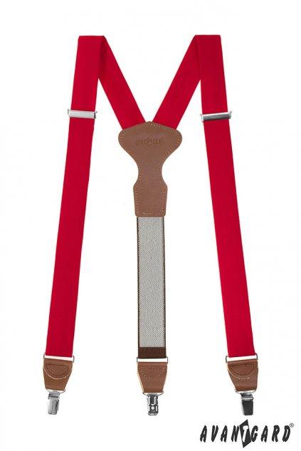 Červené šle Y na klipy v dárkovém balení 878 - 985763