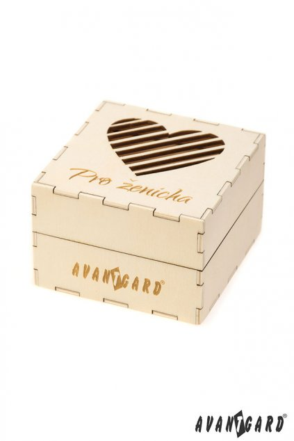 Dřevěná dárková krabička Pro ženicha přírodní dřevo 923 - 3720
