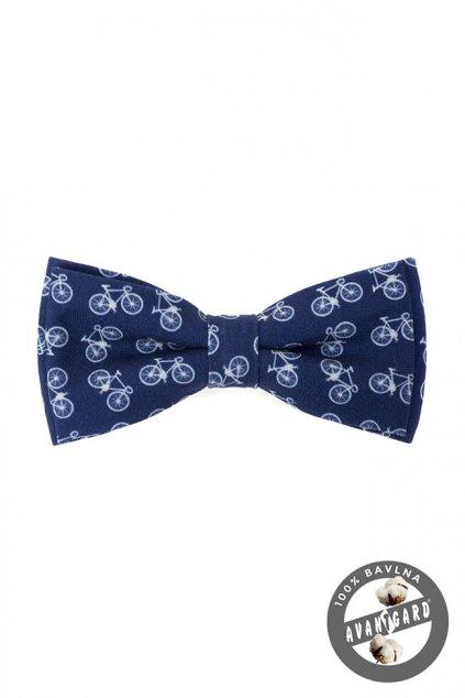 Motýlek PREMIUM bavlněný modrá/cyklistika 600 - 250