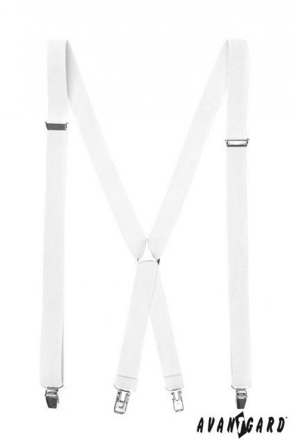 Bílé šle X zapínání na klipy 868 - 100