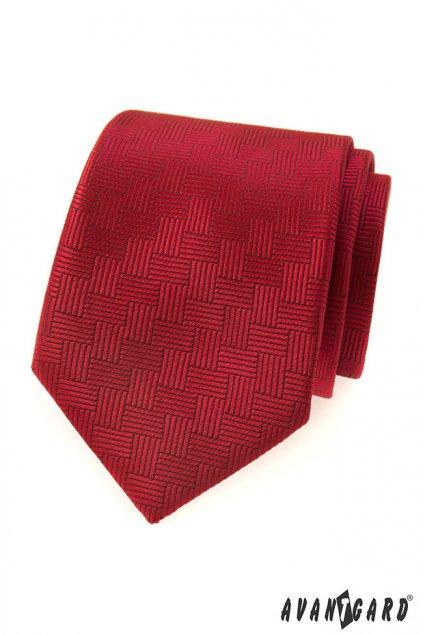 Červená vzorovaná kravata 559 - 335