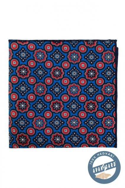 Kapesníček do saka hedvábný PREMIUM modrá 610 - 3180