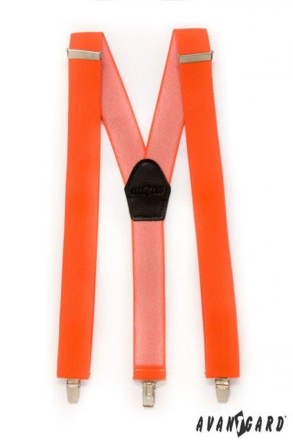 Oranžové šle Y na klipy 856 - 9025