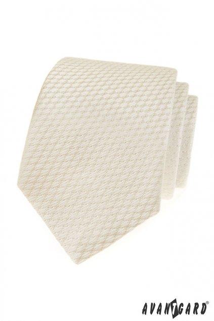 Smetanová luxusní kravata vroubkovaná 561 - 81179