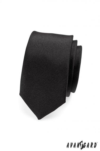 Černá kravata Slim matná 551 - 23