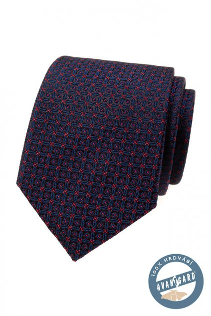 Kravata hedvábná v dárkové krabičce modrá 621 - 7753
