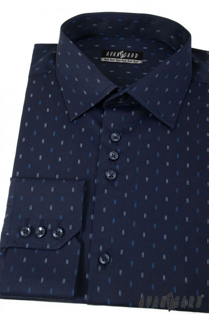 Pánská košile modrá 511 - 3110