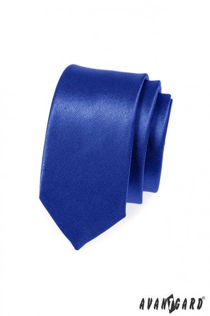 Modrá kravata Slim lesklá 551 - 735