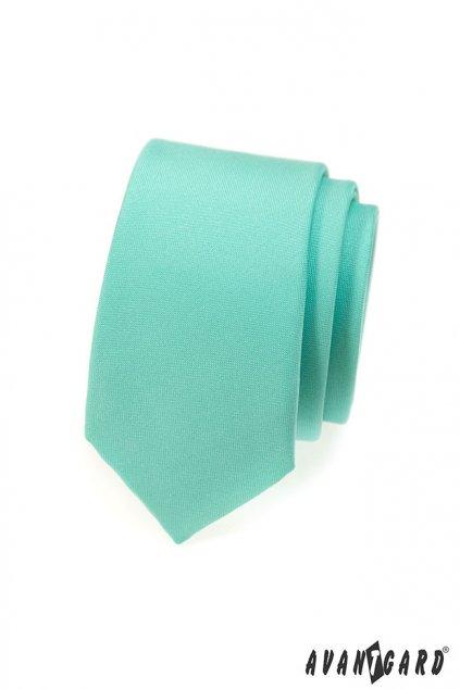Mátová kravata Slim matná 551 - 7939