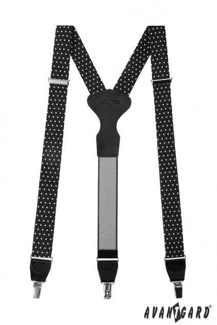 Černé látkové šle Y na klipy 878 - 197723