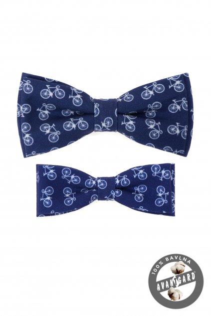 Modrá sada bavlněných motýlků Otec a syn cyklistika 775 - 250