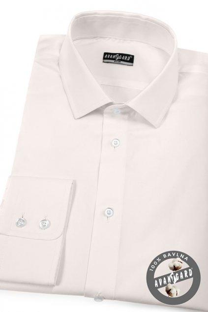 Pánská košile SLIM smetanová 109 - 206