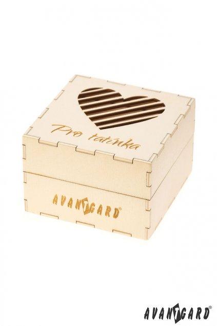 Dřevěná dárková krabička Pro tatínka přírodní dřevo 923 - 3726