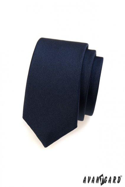Temně modrá kravata Slim 551 - 7065
