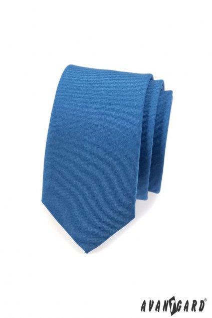 Světle modrá kravata Slim matná 551 - 7935