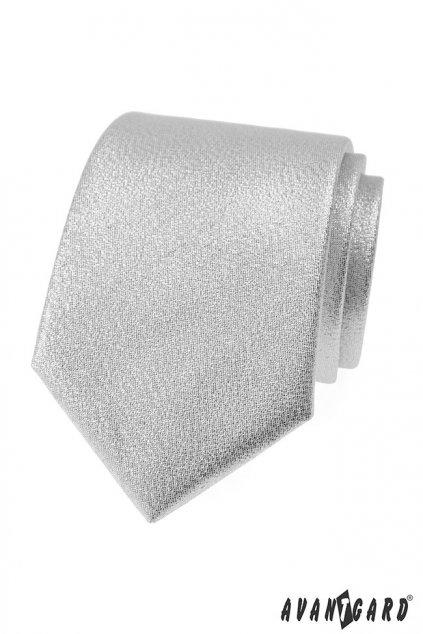 Kravata LUX stříbrná 561 - 81264