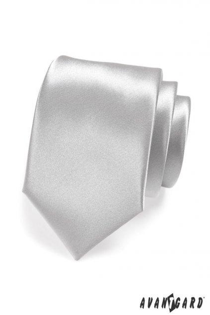 Kravata LUX stříbrná 561 - 9021