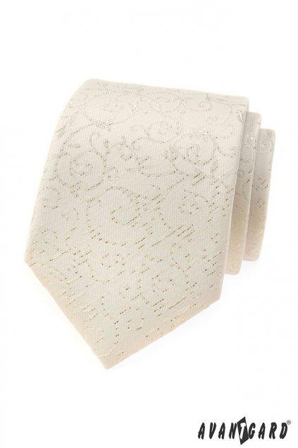 Smetanová luxusní slavnostní kravata 561 - 9348